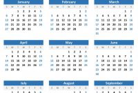 Month at A Glance Blank Calendar Template Awesome Year at A Glance Printable Template Gallery Of Calendar