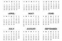 Month at A Glance Blank Calendar Template Unique Printable 2020 Calendar at A Glance Printable Calendar 2020