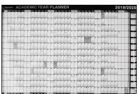 Month at A Glance Blank Calendar Template Unique Ryman Academic Wall Planner 2019 2020
