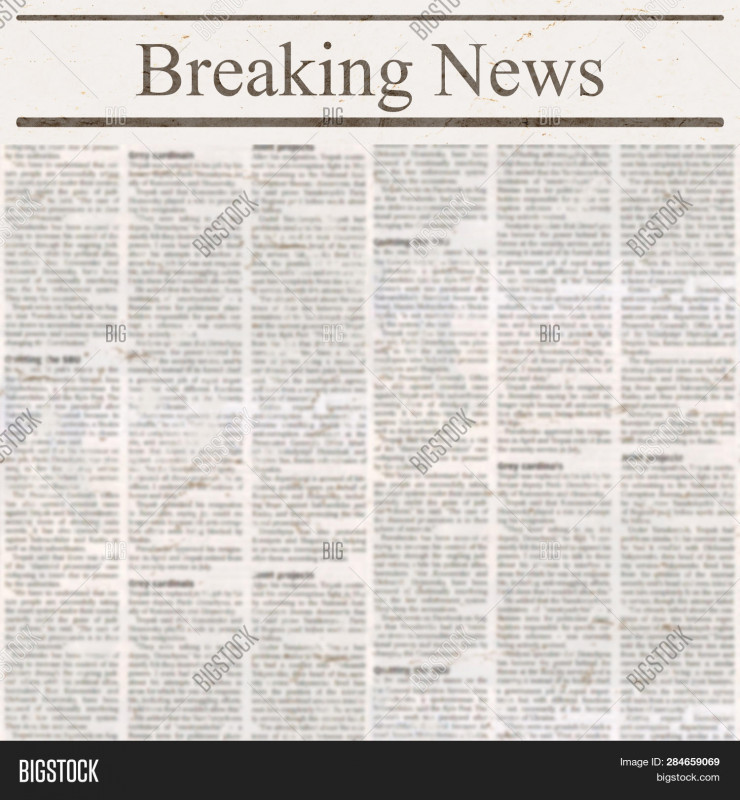 Old Blank Newspaper Template Awesome Newspaper Headline Image Photo Free Trial Bigstock