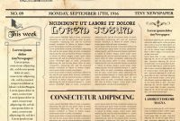 Old Blank Newspaper Template New Editable Newspaper Template