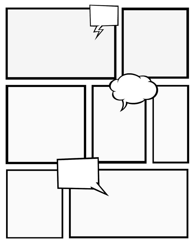 Printable Blank Comic Strip Template For Kids New School Hasnt Started Yet In Our House But The Kids Have