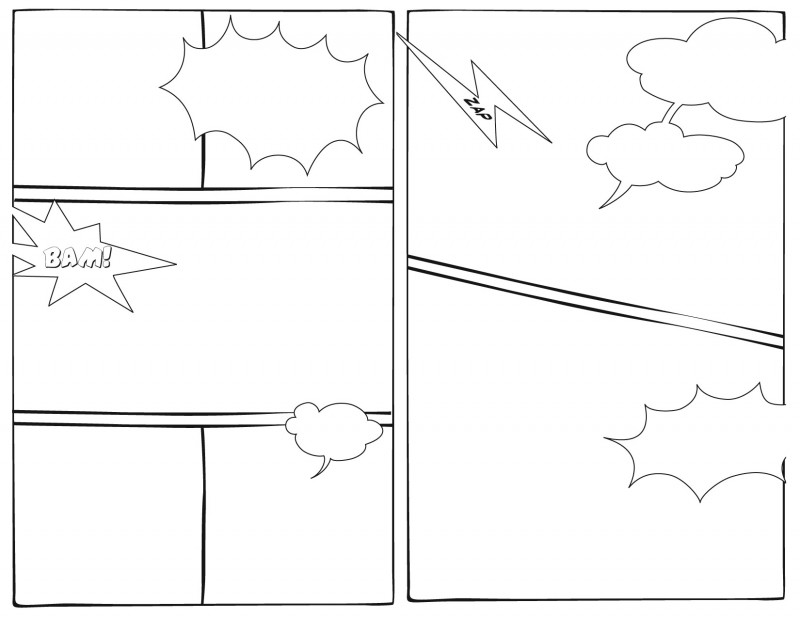 Printable Blank Comic Strip Template For Kids Unique 7 Best Images Of Printable Comic Book Layout Template