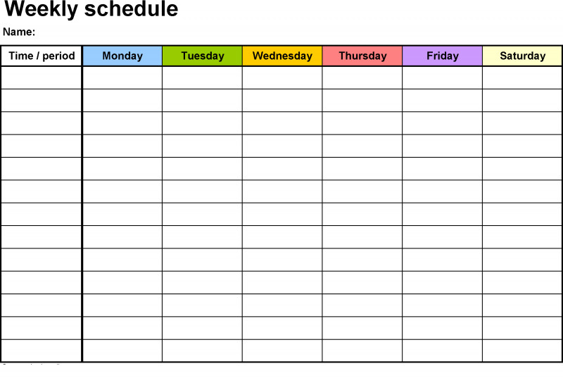 Printable Blank Daily Schedule Template Unique Weekly Calendar Template Hd Planner Weekly Calendar