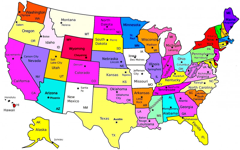 United States Map Template Blank Awesome Map Of the Us with States Printable Business Educational