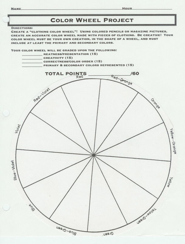 Wheel Of Life Template Blank Unique Clothing Color Wheel