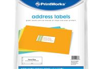 3 Labels Per Sheet Template New Printworks White Address Label 00686 Amazon Co Uk Office