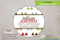 3 Labels Per Sheet Template Unique Custom Mod Triangle Circle Return Address Labels Baby Shower Stickers S134