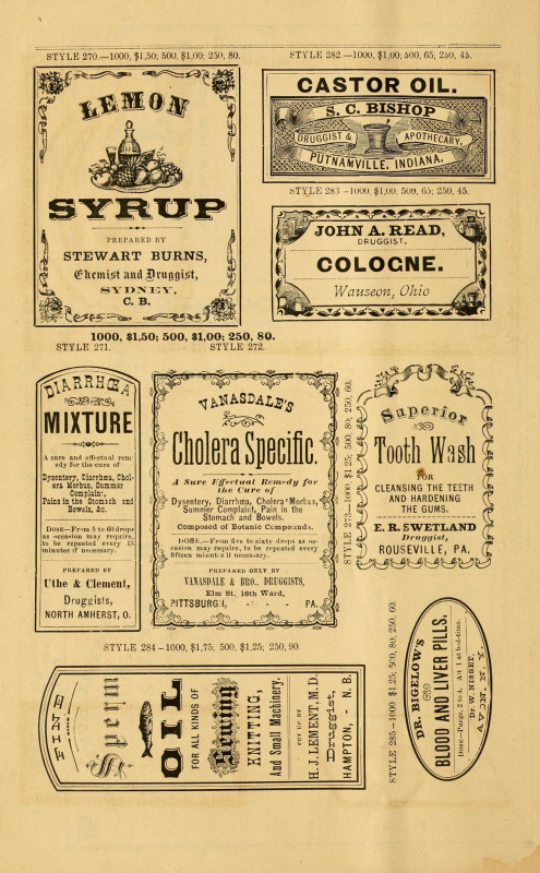 33 Labels Per Sheet Template New New Sample Book Of Cut And Gummed Druggists Labels 1874