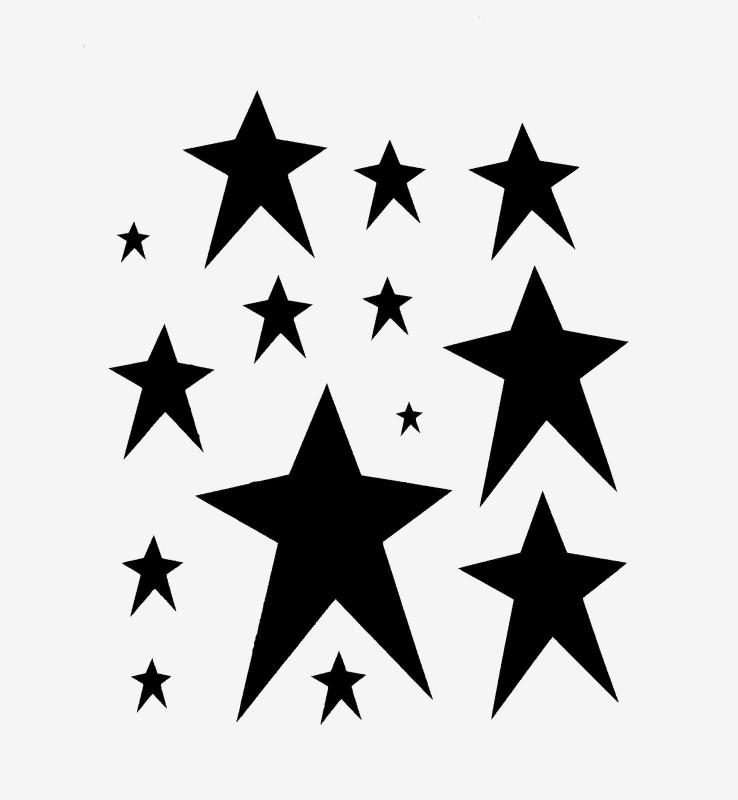 8 X 3 Label Template Awesome Primitive Star Stencil Many Stars Stencils Celestial Craft