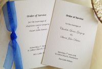 A5 Label Template Unique Order Of Service Books For Weddings A5 With Hammered Paper