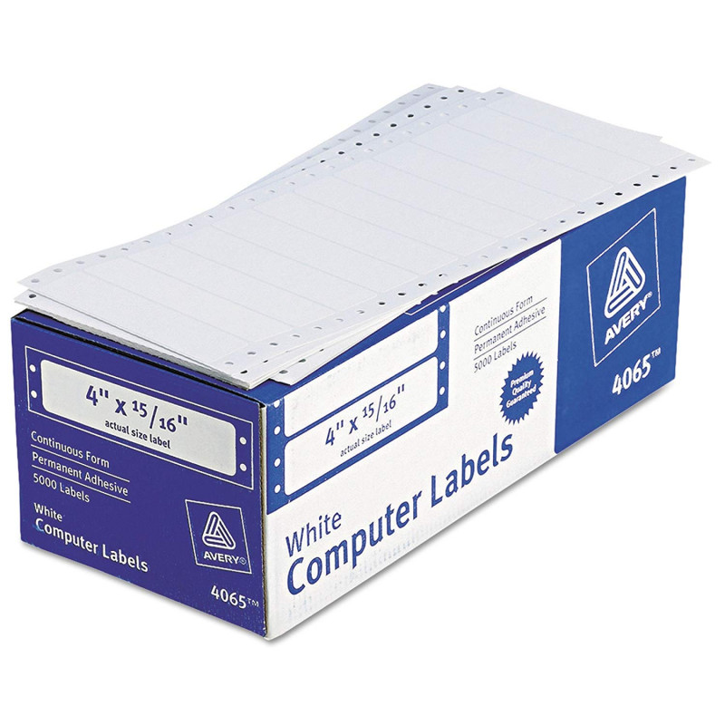 Address Label Template 16 Per Sheet New Avery 04065 White Continuous Form Hi Speed 5000 4×15 16