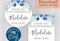 Baby Shower Bottle Labels Template Unique Floral Bridal Shower Tags or Stickers Floral Baby Shower Stickers Downloadable Stickers Diy Printable Template Kelly 308 003 Cj
