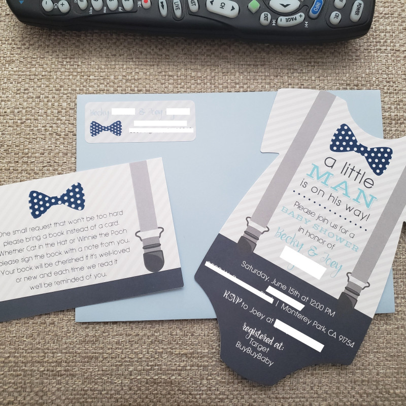 Baby Shower Label Template For Favors Awesome Little Man Baby Shower Invitation Bow Tie And Suspenders Baby Shower Invite Printed Die Cut Invitation Baby Bodysuit