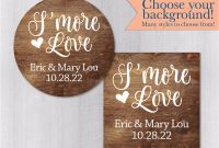 Baby Shower Label Template for Favors New Smore Love Wedding Favor Stickers Smore Party Labels Wood Background Stickers Choose Your Background Labels 008 T008