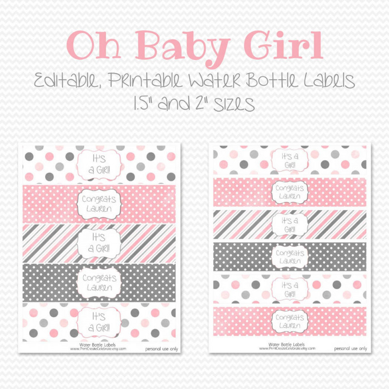 Baby Shower Label Template for Favors Unique 027 Free Water Bottle Label Template Ideas Delightful