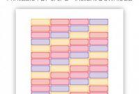 Bin Labels Template New Desert Sunset Quarter Boxes Printable Planner Stickers for