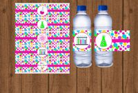 Birthday Water Bottle Labels Template Free Awesome Science Water Bottle Label Mad Science Water Bottle Label Girls Birthday Party Science Birthday Party Instant Download