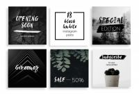 Black and White Label Templates Unique Blackwhite Instagram Posts Template by Wild Ones On
