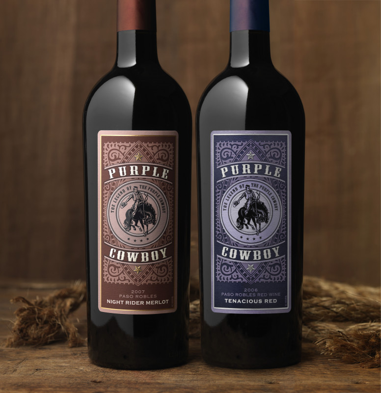 Blank Wine Label Template New Purple Cowboy Love The Name Love The Label Wine Bottle