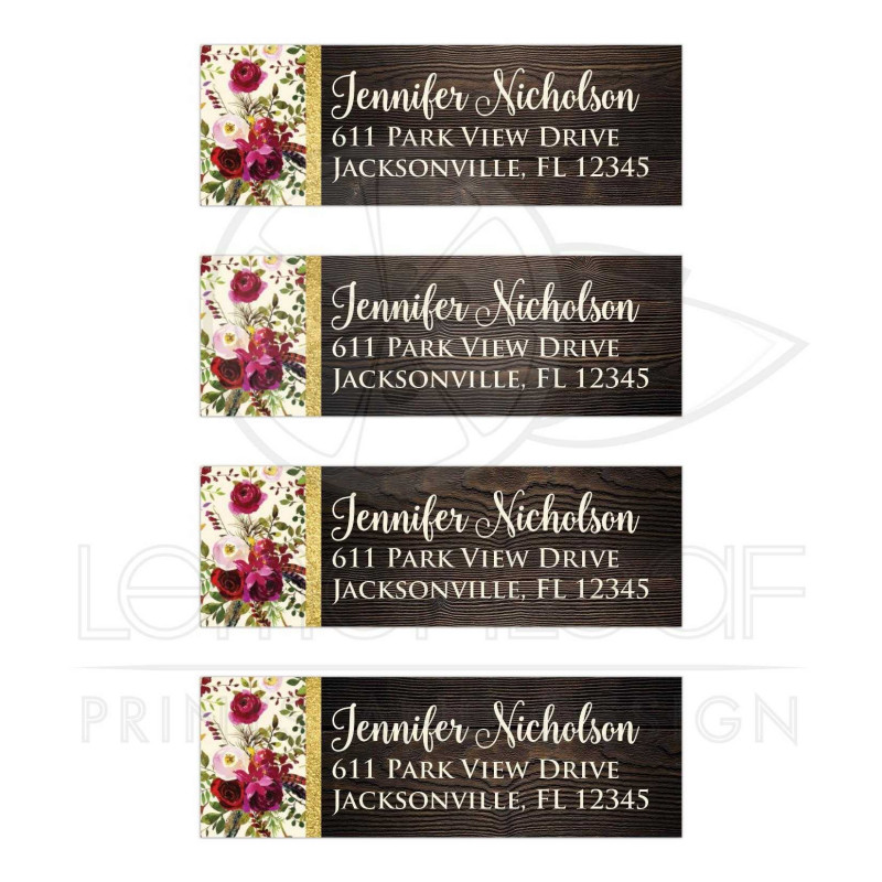 Bridal Shower Label Templates Awesome Rustic Flower Label
