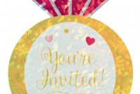 Bridal Shower Label Templates New Prismatic Diamond Ring Bridal Shower Invitation Postcard