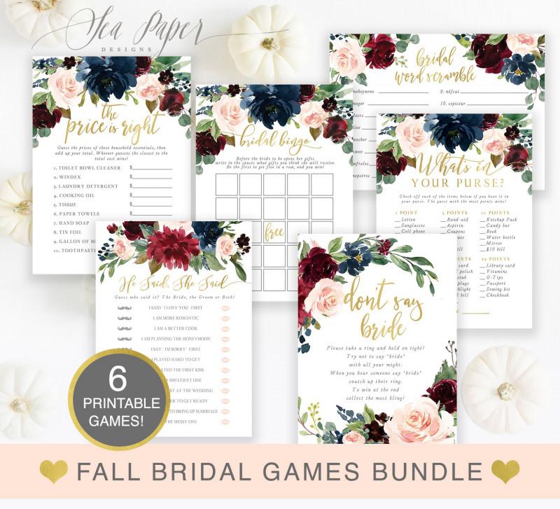 Bridal Shower Label Templates Unique Kristen Navy Bridal Shower Games Bundle Bridal Shower Games