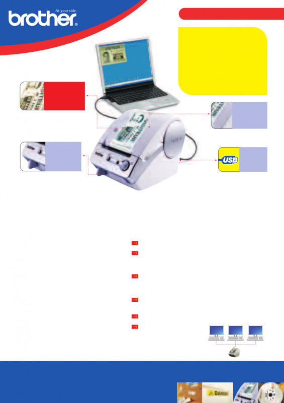 Brother Label Printer Templates Awesome Brother P Touch Ql 500a Users Manual 401608 500 Leaflet