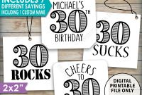 Candy Bar Label Template New 30th Birthday Tags Funny 30th Bday Candy Bar 30 Suck