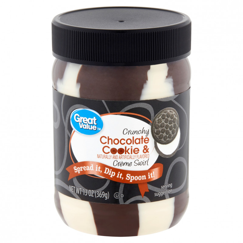 Canning Jar Labels Template Unique Great Value Crunchy Chocolate Cookie Cra¨me Swirl 13 Oz Walmart Com