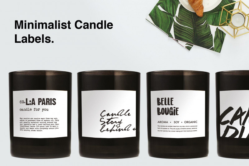 Canning Jar Labels Template Unique Minimalist Candle Label Includespurchasefontstemplates