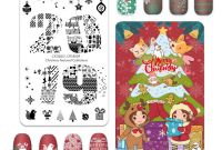 Christmas Address Labels Template Awesome Amazon Com Cicisisi 2019 Christmas Nail Art Stamping