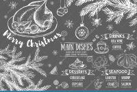 Christmas Address Labels Template Awesome Christmas Menu Restaurant Cafe Menu Template Design Food