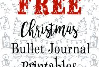 Christmas Address Labels Template Awesome Free Christmas Bullet Journal Printables Bullet Journal