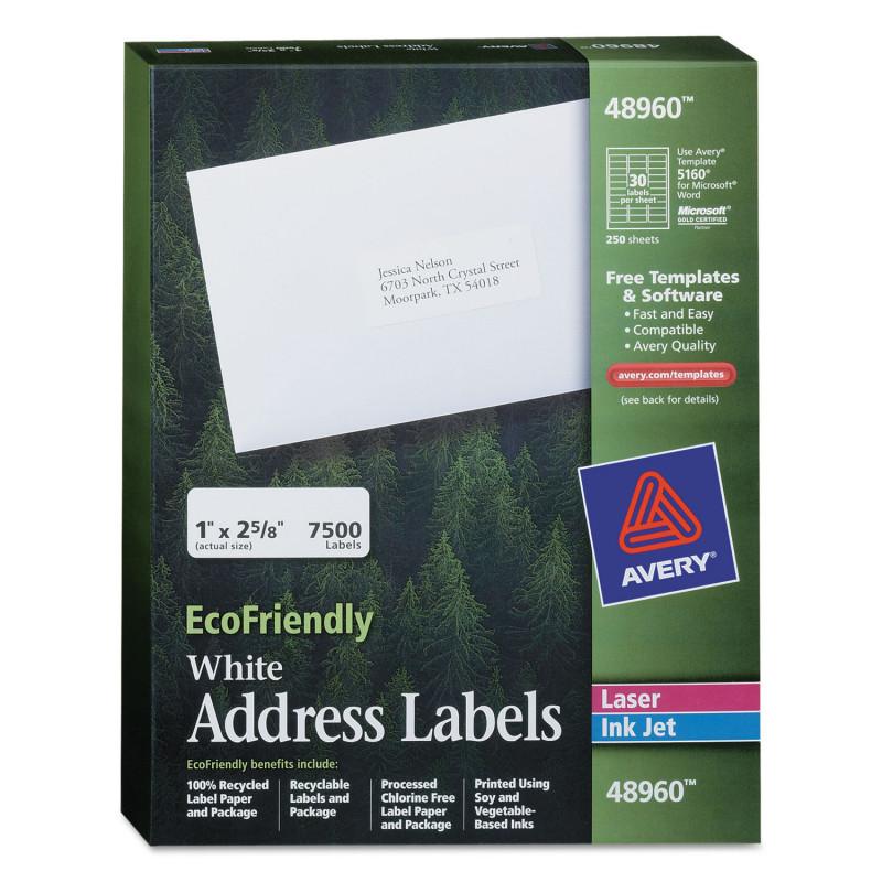 Christmas Return Address Labels Template Unique Ecofriendly Laser Inkjet Easy Peel Mailing Labels 1 X 2 5 8 White 7500 Pack