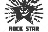 Desi Telephone Labels Template Awesome Rocker Logo Rock Star Logo Template Stock Vector