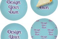 Dessert Labels Template New Design Your Own Personalized Set Of 4 Glass Appetizer Dessert Plate 8