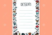 Dessert Labels Template New Desserts Menu Template Colorful Doodle Style Coffee Cups