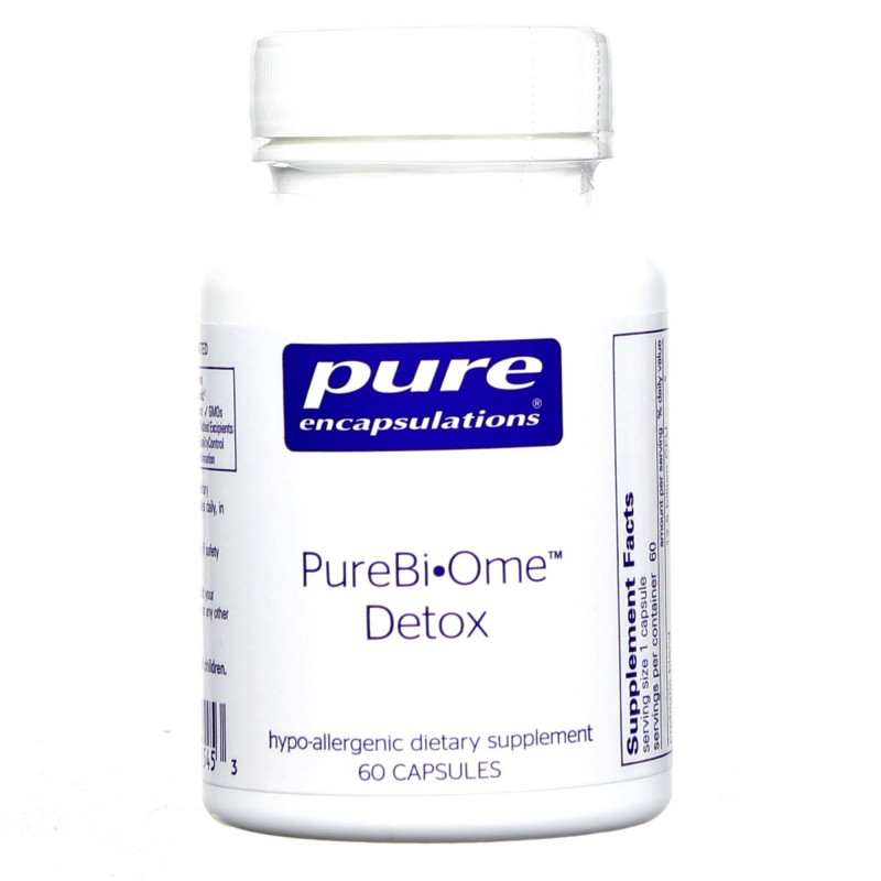 Dietary Supplement Label Template Awesome Pure Encapsulations Pure Biome Detox 60 Capsules