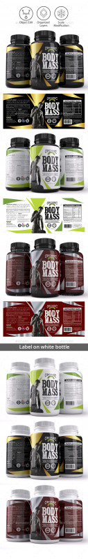 Dietary Supplement Label Template Unique Dieline Packaging Templates From Graphicriver