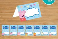 Diy Water Bottle Label Template Unique Peppa Pig Printable Food Labels Place Cards for A Birthday