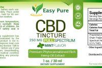 Dog Treat Label Template New Cbd Tincture Lemon 500 Mg Full Spectrum 1 Oz Easy Pure Cbd