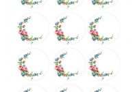 Door Label Template New Labels Free 2 Inch Floral Shabby Circles Circle Labels