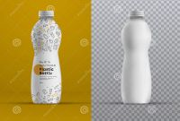Drink Bottle Label Template Awesome Vector Realistic Mockup Plastic Curved Bottle for Juice