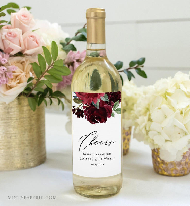 Drink Bottle Label Template New Pin By Minty Paperie On Wedding Extras By Mp In 2019 Wine