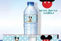 Drink Bottle Label Template Unique 002 Template Ideas Free Water Bottle Impressive Label