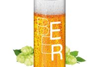 Food Label Template for Party Awesome Bier Smart Label Pfandfrei Export