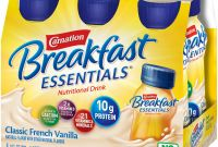 Food Product Labels Template Awesome Carnation Breakfast Essentials Classic French Vanilla 6 8 Fl