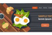 Food Product Labels Template Awesome Food On Table Eggs On A Plate with Healthy Vegetables