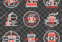 Food Product Labels Template Unique Coffee Shop Sticker Design Coffee Badge Logo Food Design